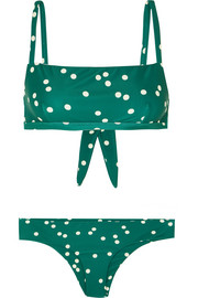 Faithfull The Brand Tiana and Cara polka-dot bikini
