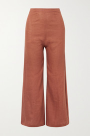 Faithfull The Brand Scelsi cropped linen wide-leg pants