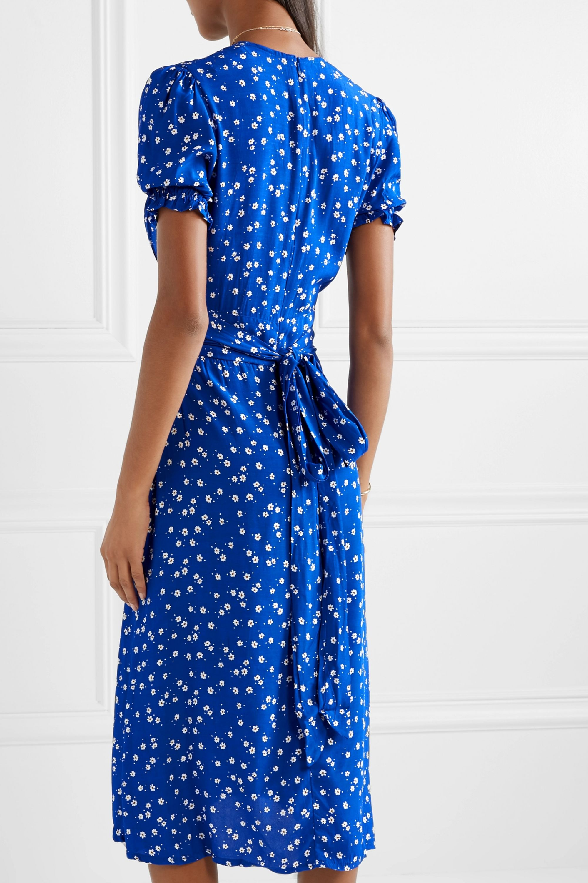 Faithfull The Brand Farah tie-detailed floral-print crepe midi dress
