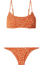 Faithfull The Brand Lindsay and Luna shirred floral-print bikini