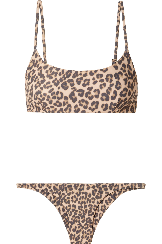 Faithfull The Brand Lara and Luna leopard-print bikini