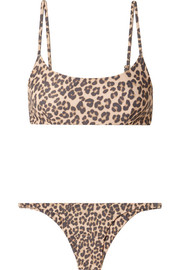 Faithfull The Brand Lara and Luna leopard-print bikini