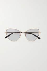 Stella McCartney Cat-eye rose gold-tone sunglasses