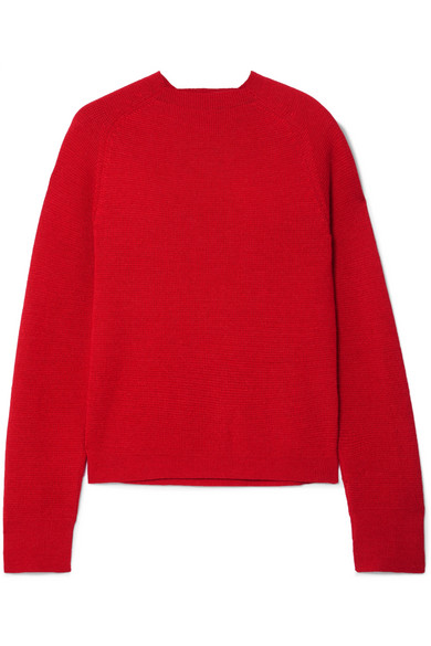 CARCEL Milano Baby Alpaca Sweater in Red