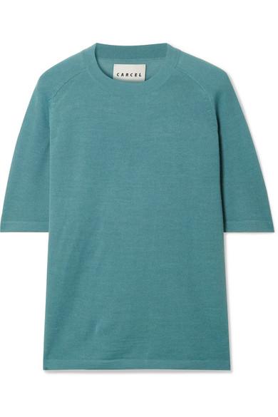 CARCEL Uni Baby Alpaca T-Shirt in Blue