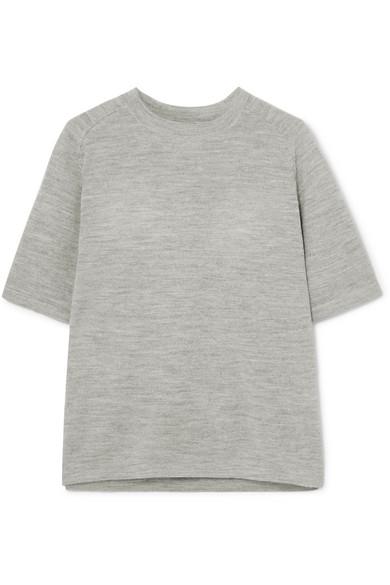 CARCEL Uni Baby Alpaca T-Shirt in Gray