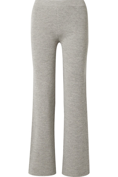 CARCEL Milano Baby Alpaca Pants in Gray