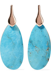 Nura rose gold vermeil turquoise earrings
