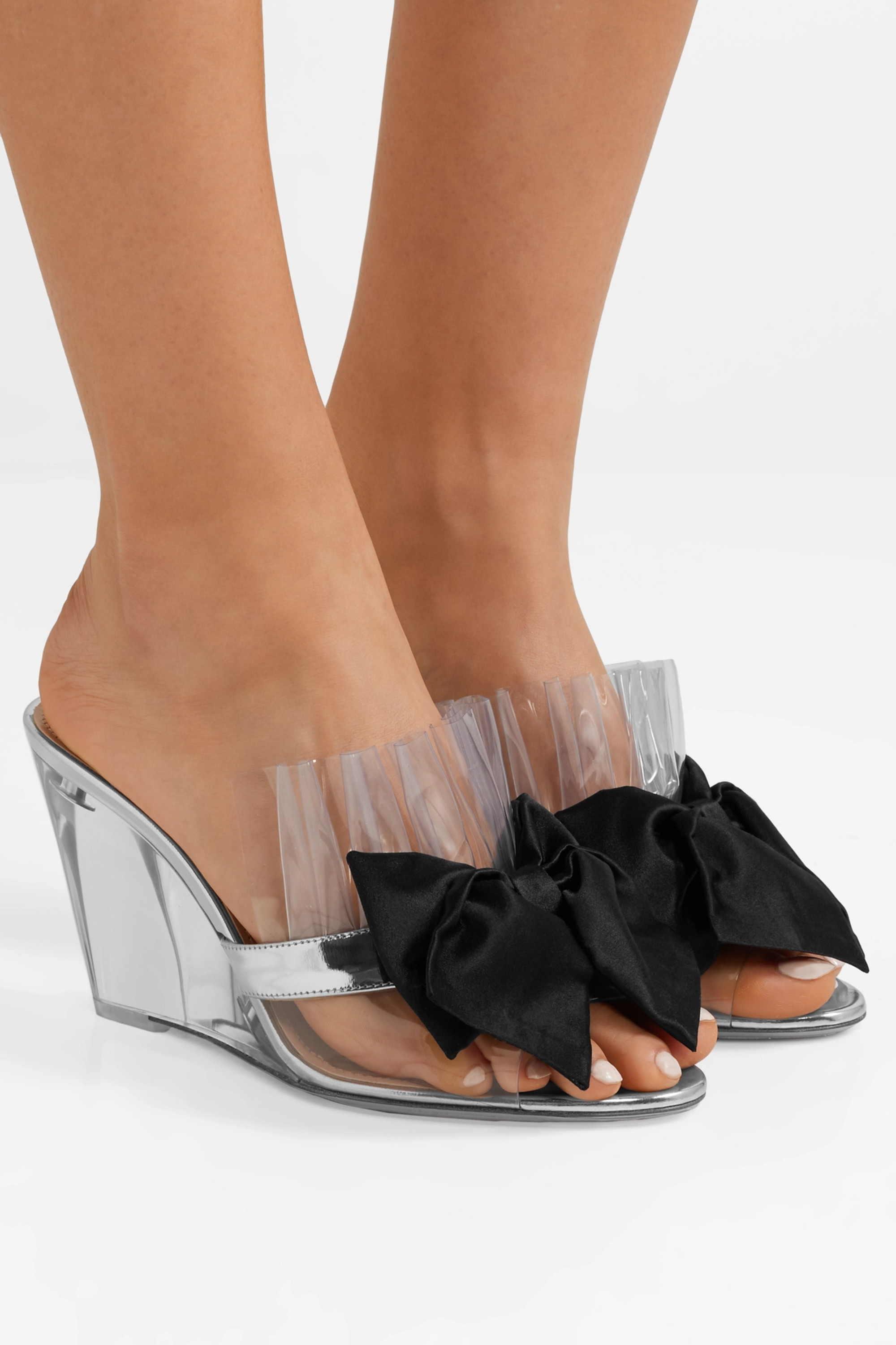 Silver Bow-embellished Perspex and