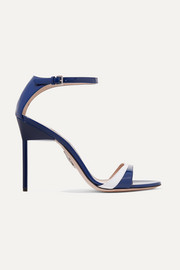 Miu Miu Two-tone patent-leather sandals