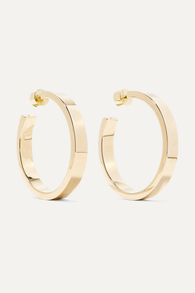 Baby Kate Gold Plated Hoop Earrings by Jennifer Fisher