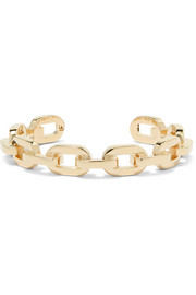 Chain Link gold-plated cuff