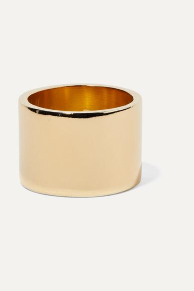 JENNIFER FISHER Stripe Gold-Plated Ring