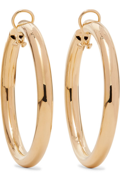 JENNIFER FISHER Samira Gold-Plated Clip Hoop Earrings