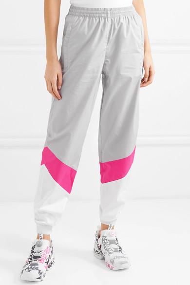 Vetements Pants Mustermann color-block cotton track pants