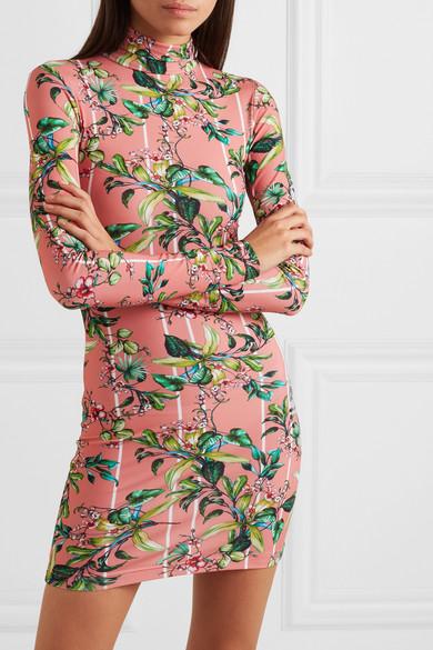 Vetements Dress Floral-print stretch-jersey mini dress
