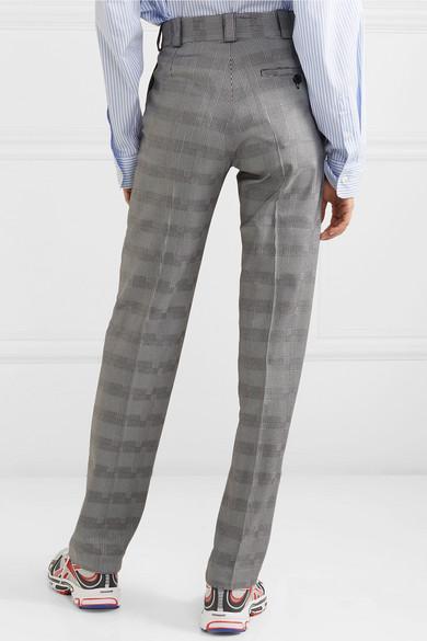 Vetements Pants Houndstooth wool-blend slim-leg pants