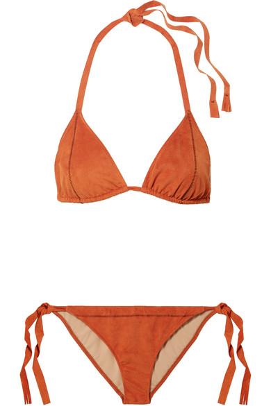 Bikini En Daim Synthétique Stretch Cobra - Orange
