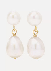 Natasha Schweitzer Mia gold pearl earrings