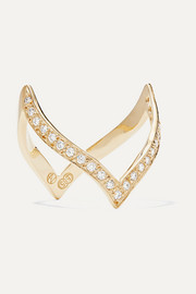 Natasha Schweitzer En Pointe 14-karat gold diamond ring