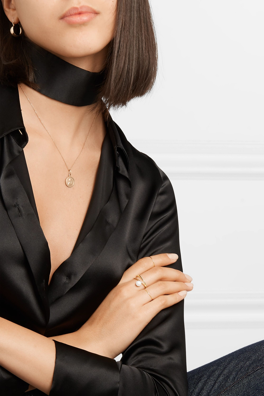 Natasha Schweitzer Bague en or 9carats à perles