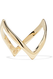 En Pointe 9-karat gold ring
