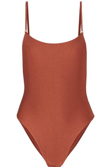 JADE SWIM   Jade Swim - Reel Swimsuit - Tan   Goxip