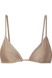 502e7eaf35fc3 Moschino | Embellished leopard-print triangle bikini top | NET-A ...
