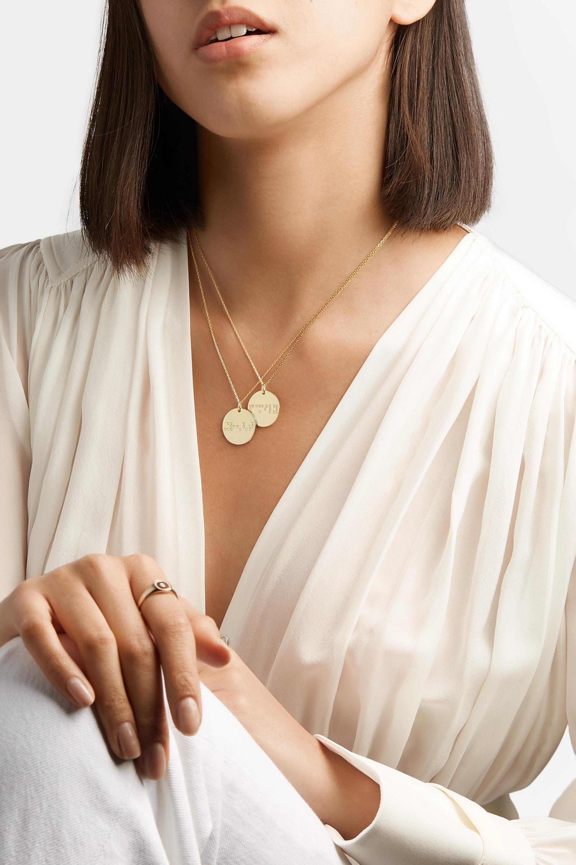 Anissa Kermiche Strength 9-karat gold diamond necklace