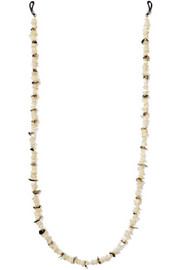 Rosantica Gold-tone mother-of-pearl sunglasses chain