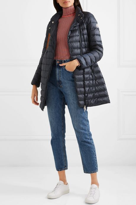 Navy Quilted shell down jacket | Moncler mwJFnE