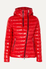 몽클레어 Moncler Hooded quilted glossed-shell down jacket