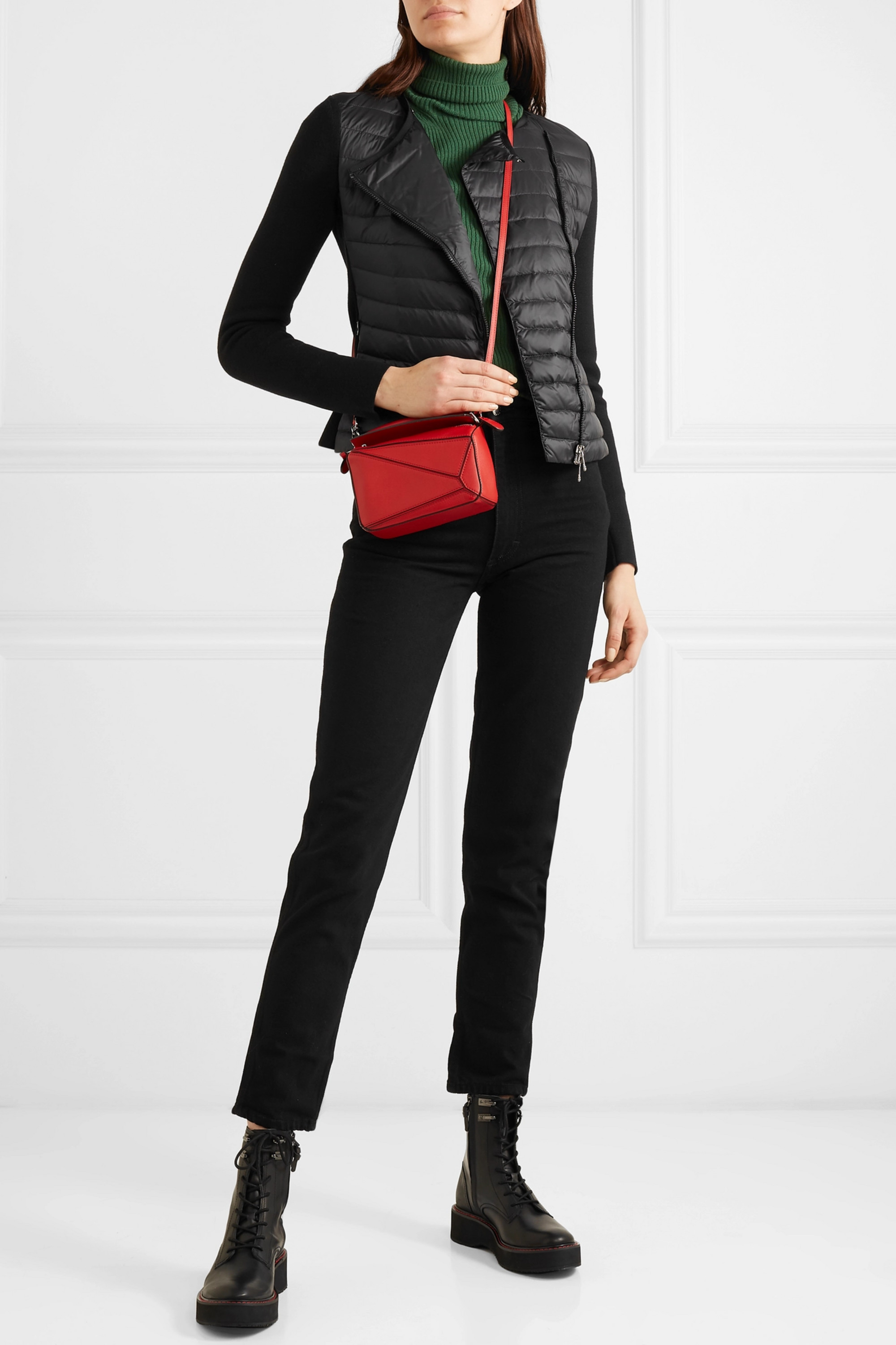 Moncler Quilted shell and wool cardigan