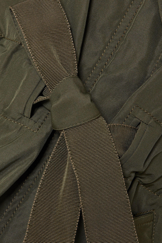 Moncler Hooded gabardine and glossed-shell jacket