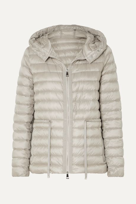 Beige Hooded quilted shell down jacket | Moncler t1kKsp