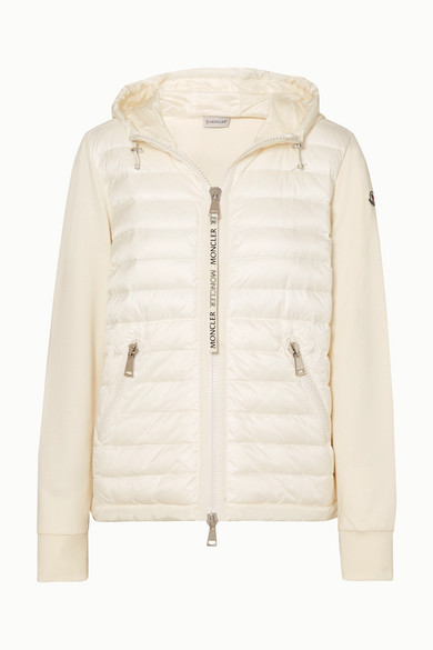Hooded Quilted Shell And Cotton Jersey Down Jacket by Moncler