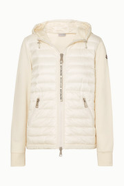 Moncler Hooded quilted shell and cotton-jersey down jacket
