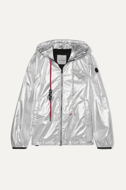 Moncler Hooded metallic shell jacket