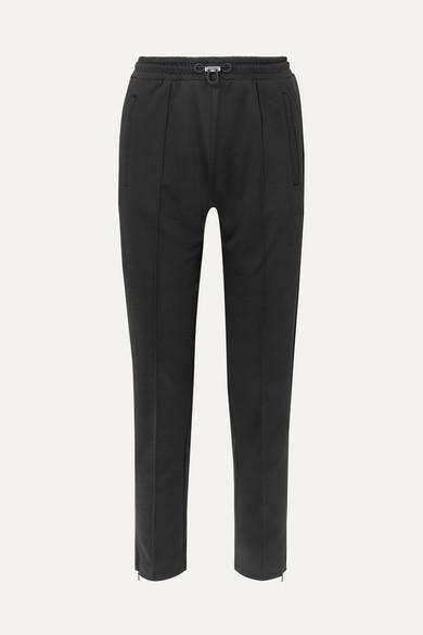MONCLER   Moncler - Cotton-jersey Track Pants - Black   Goxip