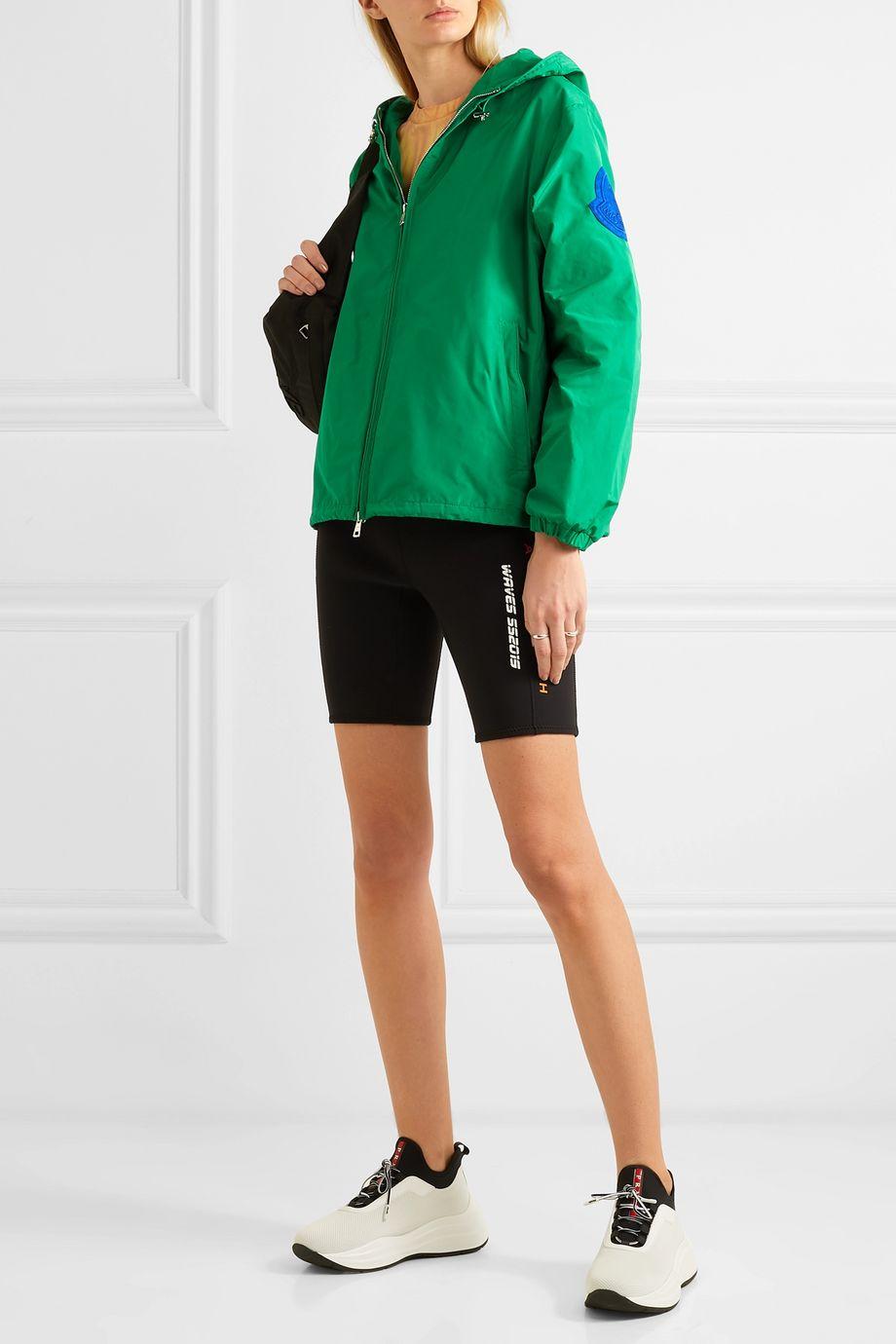 Moncler Hooded appliquéd shell jacket