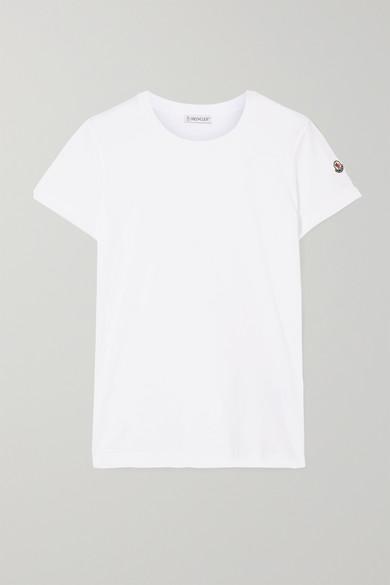 MONCLER   Moncler - Cotton-jersey T-shirt - White   Goxip