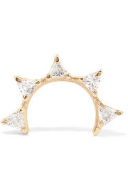 Sepal 05 gold diamond earring