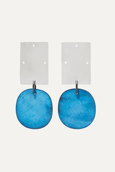 Overt Silver And Oxidized Earrings by Annie Costello Brown
