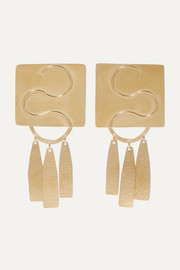 Annie Costello Brown Clea gold-tone earrings
