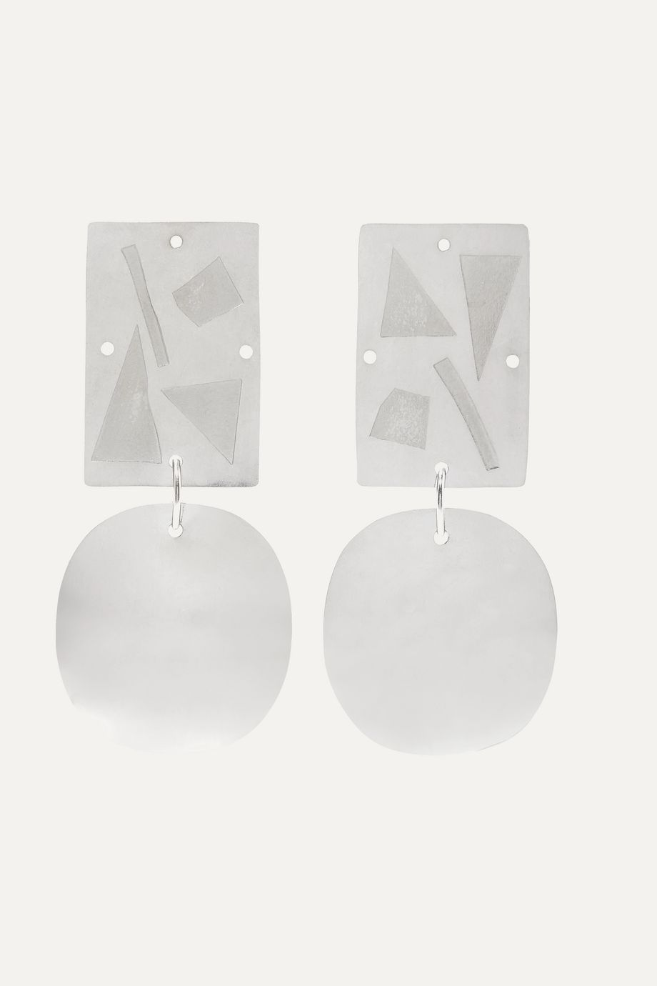 Annie Costello Brown Overt silver earrings