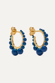 Aurélie Bidermann Ana gold-plated beaded hoop earrings