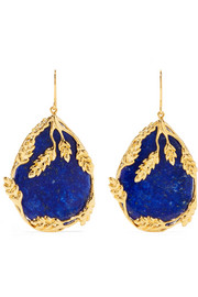 Françoise gold-plated lapis lazuli earrings