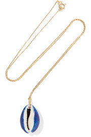 Aurélie Bidermann Merco gold shell necklace
