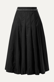 Moncler Genius + 6 Noir Kei Ninomiya pleated chain-embellished shell midi skirt