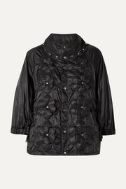 + 6 Noir Kei Ninomiya appliquéd quilted shell down jacket
